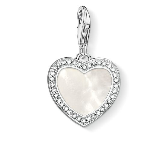 "Charm pendant ""Heart with mother-of-pearl "" from the  collection in the THOMAS SABO online store"