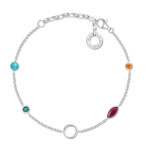"""Charm bracelet """"Colourful Stones"""" from the  collection in the THOMAS SABO online store"""
