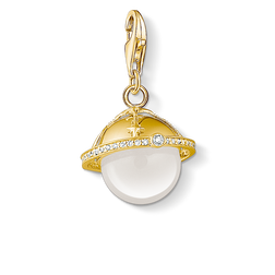 Charm pendant golden planet from the Charm Club Collection collection in the THOMAS SABO online store