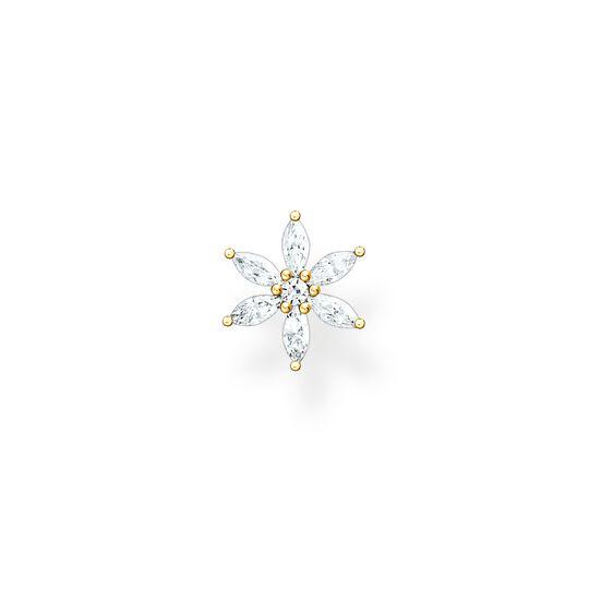Einzel Ohrstecker Blume weiße Steine gold aus der Charming Collection Kollektion im Online Shop von THOMAS SABO
