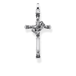 pendant Cross & crown from the Rebel at heart collection in the THOMAS SABO online store