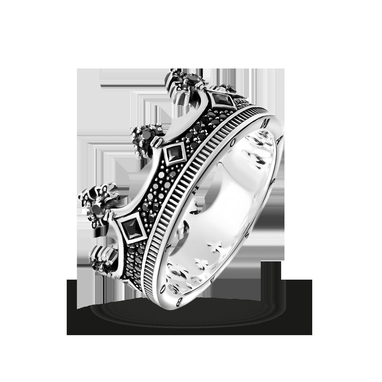 Damen Ring Partnerring Sterling Silber Schwarz Zirkonia Bund Big Clearance Sale Verlobungsring