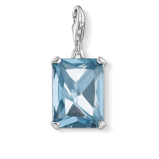 charm pendant large blue stone from the Charm Club collection in the THOMAS SABO online store