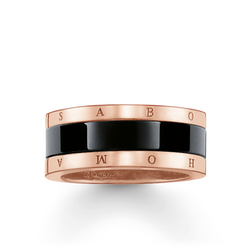 "band ring ""black ceramic"" from the Glam & Soul collection in the THOMAS SABO online store"