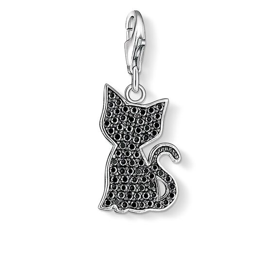 "ciondolo Charm ""gatto nero"" from the  collection in the THOMAS SABO online store"