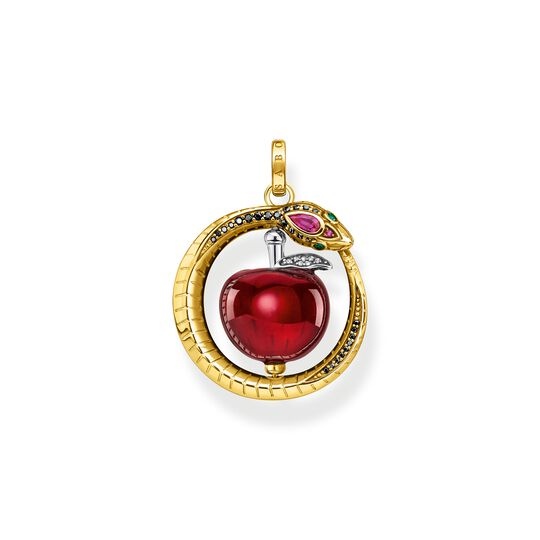 Pendant apple with snake gold from the  collection in the THOMAS SABO online store