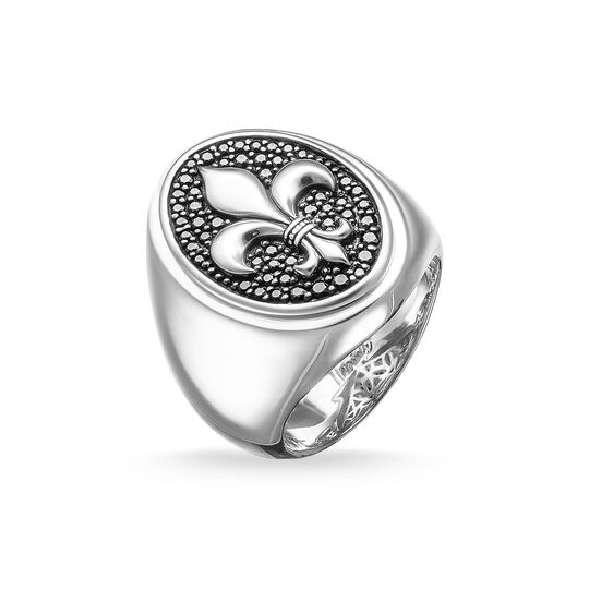 signet ring bourbon lily from the  collection in the THOMAS SABO online store