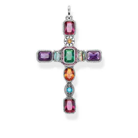 pendant Cross colourful stones from the Glam & Soul collection in the THOMAS SABO online store