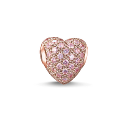 """Bead """"cœur avec pavé rose"""" de la collection Karma Beads dans la boutique en ligne de THOMAS SABO"""