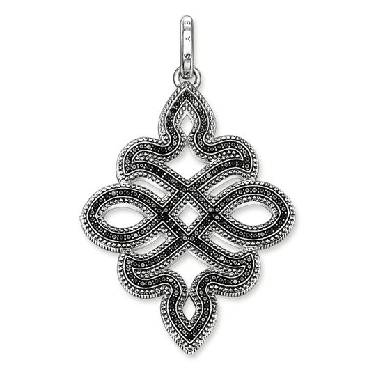 pendant black love knot small from the Rebel at heart collection in the THOMAS SABO online store