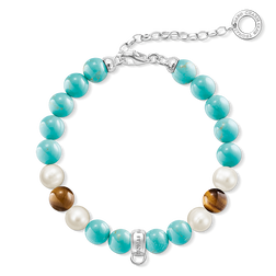 "Charm bracelet ""turquoise, brown, white"" from the  collection in the THOMAS SABO online store"