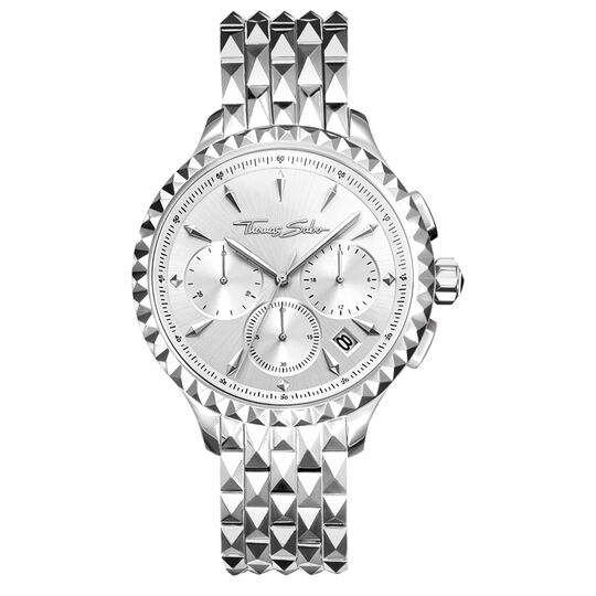 Women's watch REBEL AT HEART WOMEN CHRONOGRAPH silver from the Rebel at heart collection in the THOMAS SABO online store