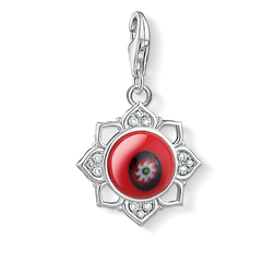 """Charm pendant """"red glass lotus flower"""" from the  collection in the THOMAS SABO online store"""
