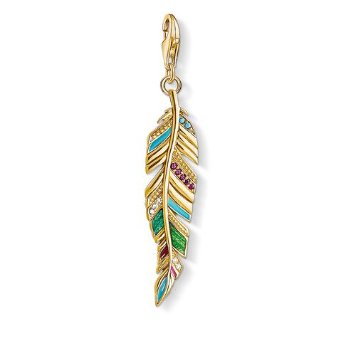 "Charm pendant ""Ethnic Feather"" from the  collection in the THOMAS SABO online store"