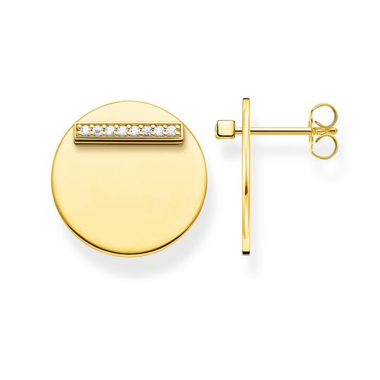 ear studs Together disc gold from the Glam & Soul collection in the THOMAS SABO online store