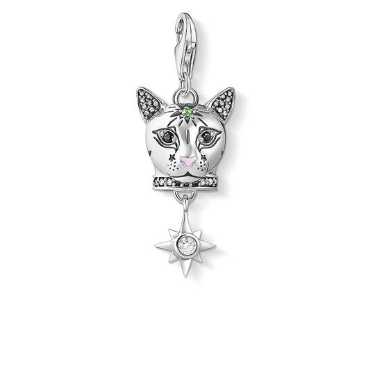 Charm pendant Cat silver from the Glam & Soul collection in the THOMAS SABO online store