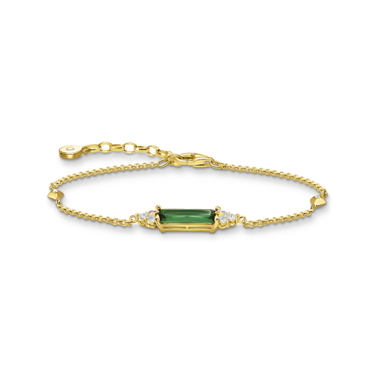 Bracelet green stone gold from the Glam & Soul collection in the THOMAS SABO online store