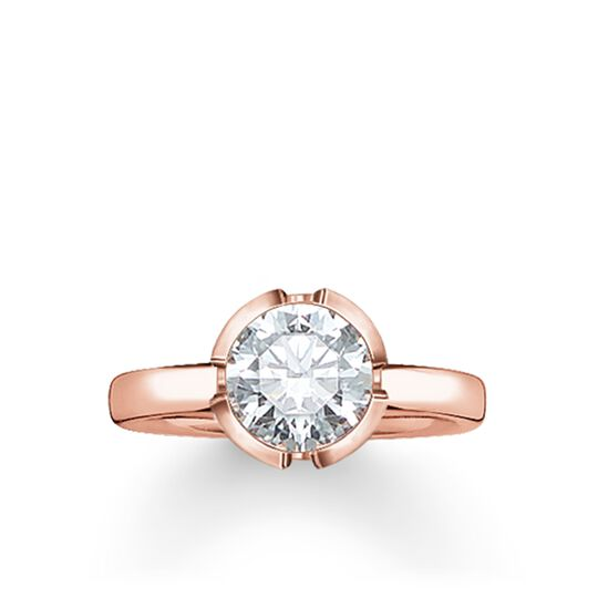 """solitaire ring """"Signature Line white small"""" from the Glam & Soul collection in the THOMAS SABO online store"""