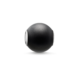"Bead ""obsidian matt"" from the Karma Beads collection in the THOMAS SABO online store"