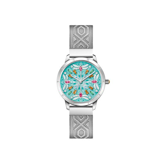 Women's watch kaleidoscope dragonfly gold turquoise from the  collection in the THOMAS SABO online store