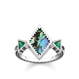 ring zig zag mother of pearl abalone from the Glam & Soul collection in the THOMAS SABO online store