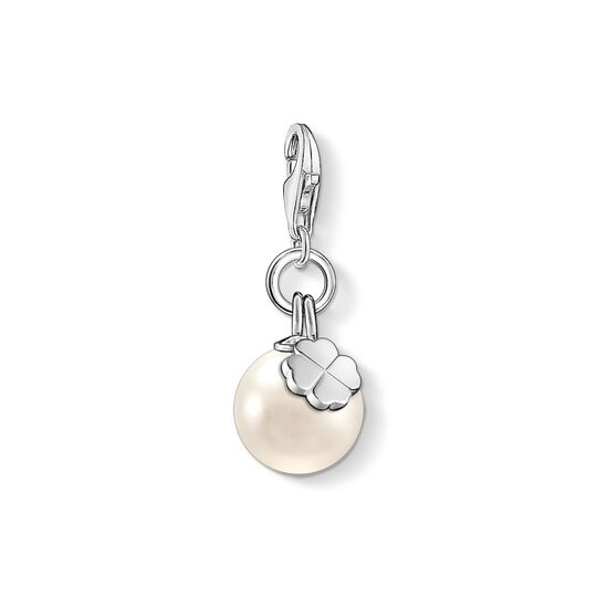 Charm pendant pearl with cloverleaf from the Charm Club collection in the THOMAS SABO online store