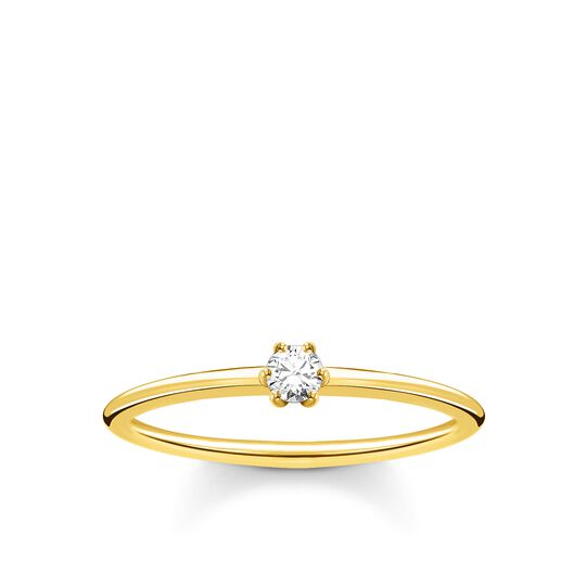 Ring white stone gold from the Charming Collection collection in the THOMAS SABO online store