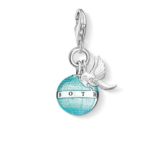 Charm pendant globe with dove from the  collection in the THOMAS SABO online store