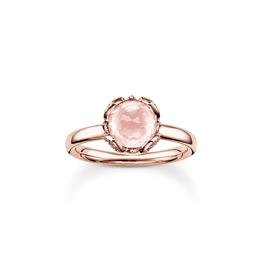 solitair ring pink Lotos Blossom from the Glam & Soul collection in the THOMAS SABO online store