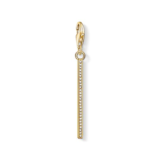 Charm pendant Vertical bar gold from the Charm Club collection in the THOMAS SABO online store