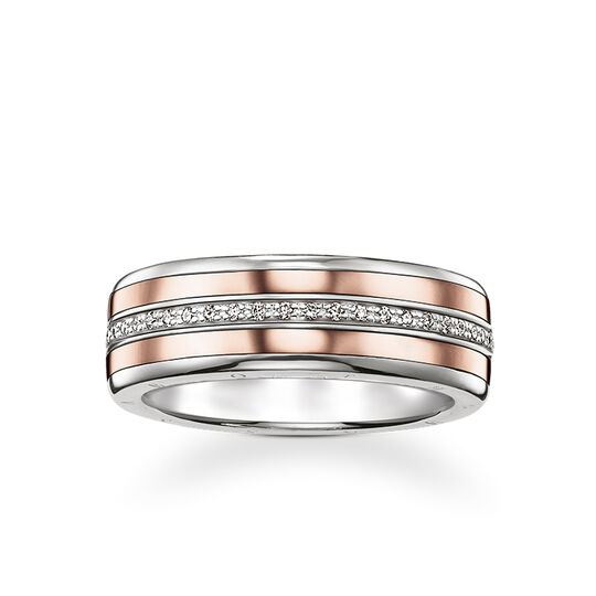 band ring from the Rebel at heart collection in the THOMAS SABO online store
