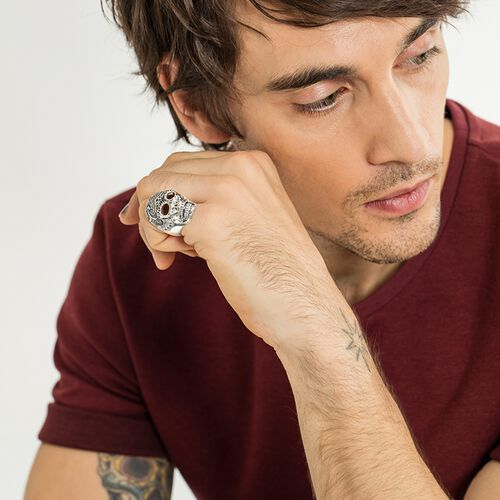"""ring """"Maori skull"""" from the Rebel at heart collection in the THOMAS SABO online store"""
