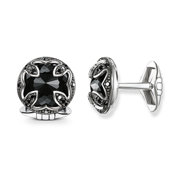 "cufflinks ""diamond lotus"" from the Rebel at heart collection in the THOMAS SABO online store"