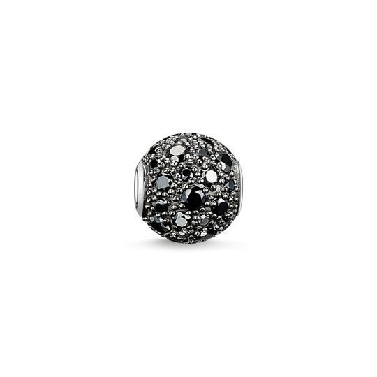 Bead black crushed pavé from the Karma Beads collection in the THOMAS SABO online store