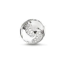 """Bead """"baby footprint"""" from the Karma Beads collection in the THOMAS SABO online store"""
