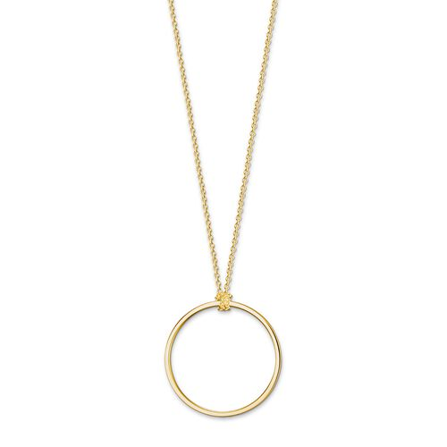 "Charm necklace ""Circle gold"" from the  collection in the THOMAS SABO online store"