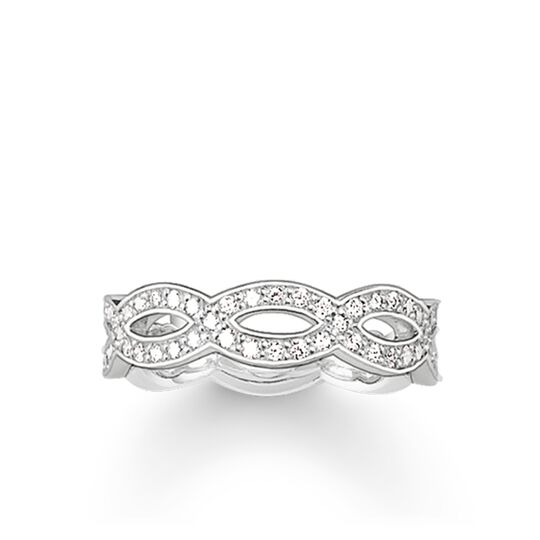 ring eternity white love knot from the Glam & Soul collection in the THOMAS SABO online store