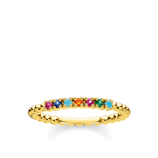 Ring dots colourful Stones gold from the Charming Collection collection in the THOMAS SABO online store