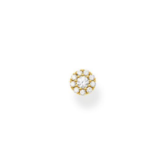 Einzel Ohrstecker weiße Steine gold aus der Charming Collection Kollektion im Online Shop von THOMAS SABO