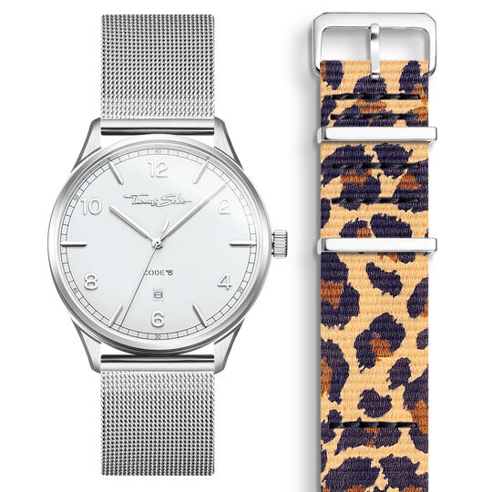SET CODE TS white watch & Animal Print bracelet from the  collection in the THOMAS SABO online store