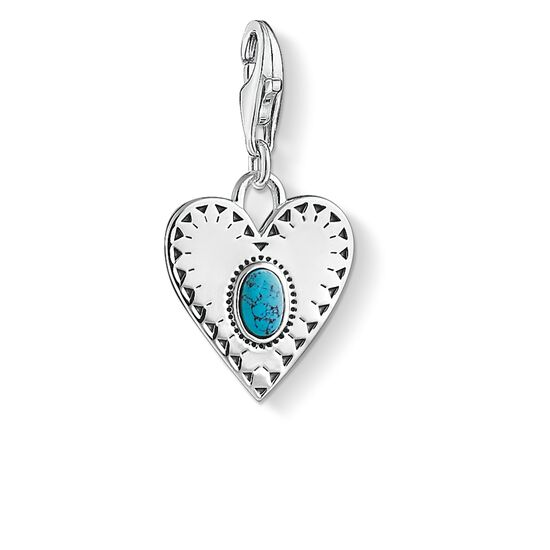 """Charm pendant """"Heart turquoise stone"""" from the  collection in the THOMAS SABO online store"""