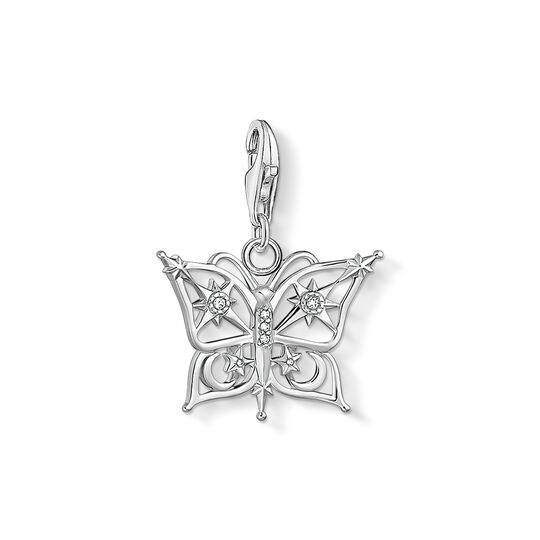 Charm pendant butterfly star & moon silver from the Charm Club collection in the THOMAS SABO online store