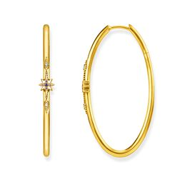 "hoop earrings ""Royalty gold"" from the Glam & Soul collection in the THOMAS SABO online store"