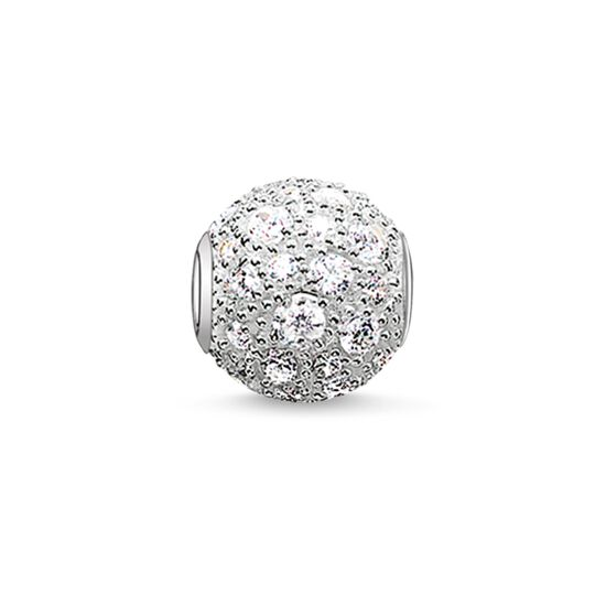"Bead ""white crushed pavé"" from the Karma Beads collection in the THOMAS SABO online store"