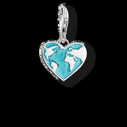 """Charm-Anhänger """"Herz Weltkugel"""" aus der  Kollektion im Online Shop von THOMAS SABO"""