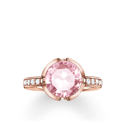 """solitaire ring """"Signature Line pink pavé large"""" from the Glam & Soul collection in the THOMAS SABO online store"""