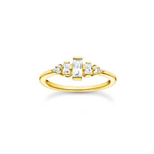 Ring vintage white stones gold from the Charming Collection collection in the THOMAS SABO online store