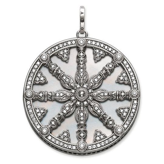 "ciondolo ""Karma Wheel con piastra madreperla"" from the Karma Beads collection in the THOMAS SABO online store"