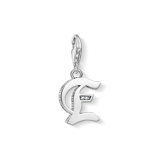 Charm pendant letter E silver from the Charm Club collection in the THOMAS SABO online store