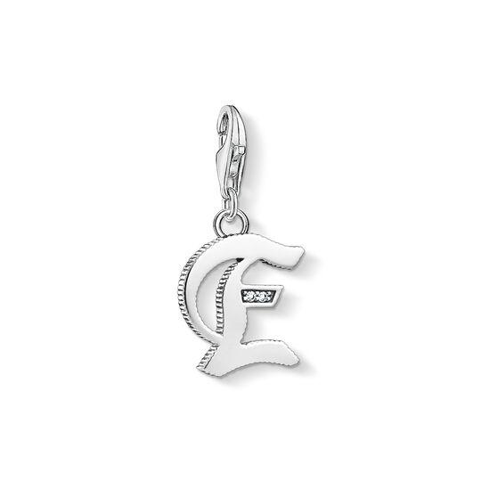 pendentif Charm lettre E  argenté de la collection Charm Club dans la boutique en ligne de THOMAS SABO